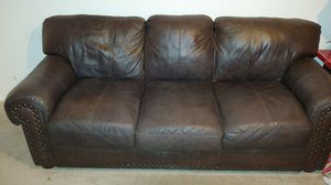 Leather couch and recliner chair for Sale in Fort Smith, AR
