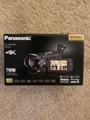 Panasonic 4K video camera HC-WXF991 for Sale in Columbia, MD
