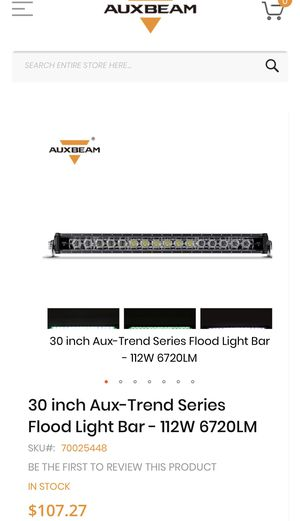 AUX BEAM 30 INCH STRAIGHT LIGHT BAR NEW for Sale in San Diego, CA