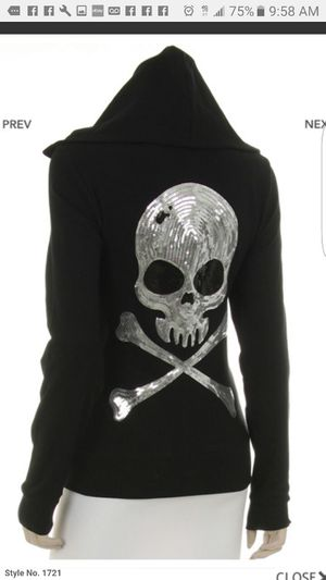 Ladies skull with Bling zipper Hoodie jackets for Sale in Granite City, IL