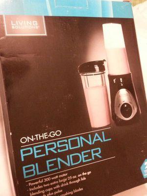 Living Solutions personal blender BLACK brand new in original box. for Sale in Houston, TX