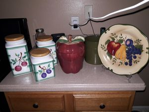 Multiple items of kitchen decor-fruit themed for Sale in Tarpon Springs, FL