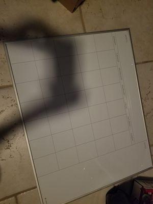 Dry erase calendar for Sale in Clyde, TX