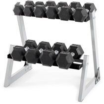 Weider 200 Lb. Rubber Hex Dumbbell Weight Set with Weight Rack NIB for Sale in Fairfax, VA