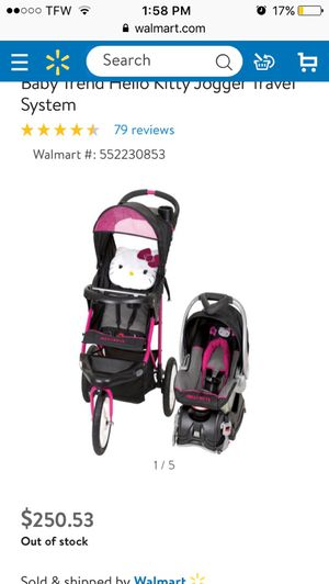 Baby stroller and car seat hello kitty for Sale in Fort Myers, FL