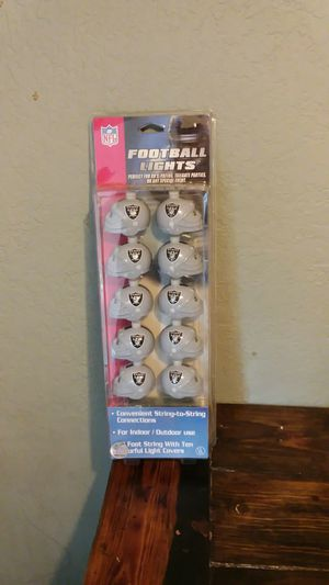 Raiders football lights for Sale in Antelope, CA