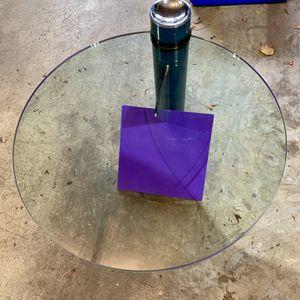 Glass & Steel Modern Side/Coffee Table for Sale in Seattle, WA