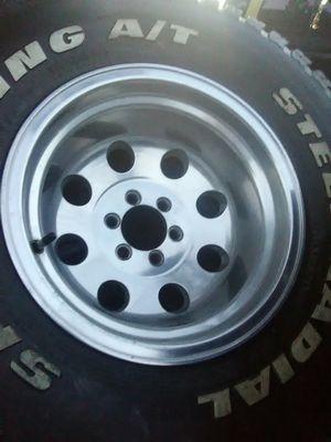 "6 bolt 15/10"" Dodge bolt pattern set of 4 rims. Bad tires for Sale in Goodhue, MN"
