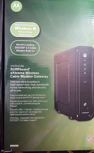 Motorola SBG6580 DOCSIS 3.0 Modem/Router for Sale in Lynchburg, VA