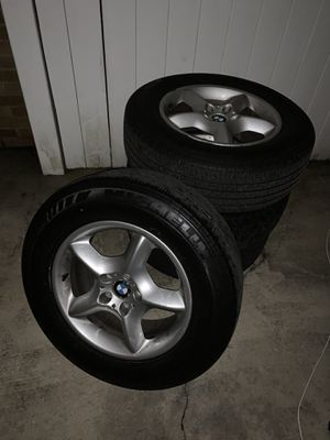 4 OEM 03 x5 rims & tires for Sale in Queens, NY