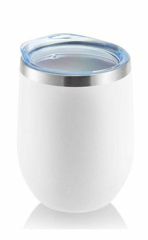 DOMICARE Insulated Wine Tumbler with Lid 12 OZ Stemless Double Wall Vacuum Traval Mug - Keeping Cold & Hot for Wine, Coffee, Cocktails, Drinks for Sale in Whittier, CA
