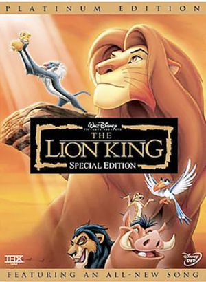 THE LION KING TWO-DISC PLATINUM EDITION DVD for Sale in South El Monte, CA