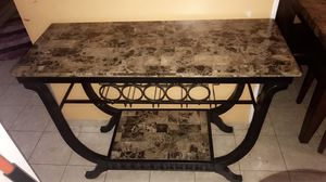 Marble drink serving console table for Sale in Dearborn, MI