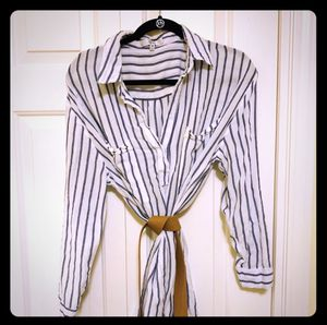 OVI Airy Striped White and Navy Shirt Dress for Sale in Camas, WA