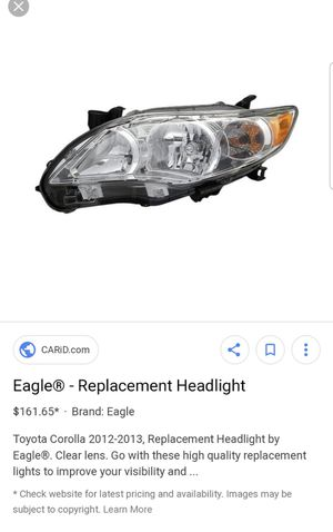 Eagle replacement headlights (set) for Sale in Caruthers, CA
