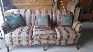 Antique Victorian style re-upholstered couch with original horsehair stuffing for Sale in Marion, MI