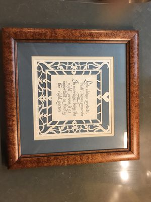 Framed artwork - great for a wedding present for Sale in Springfield, VA