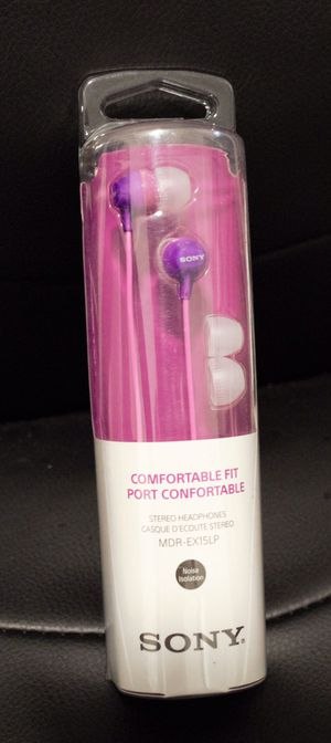 New Sony Comfortable fit stereo headphones MDR-EX15LP for Sale in Mountain View, CA