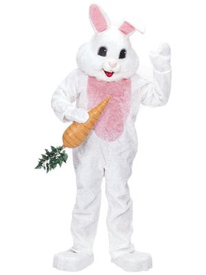 Rubies deluxe mascot white Easter bunny rabbit adult costume for Sale in Artesia, CA