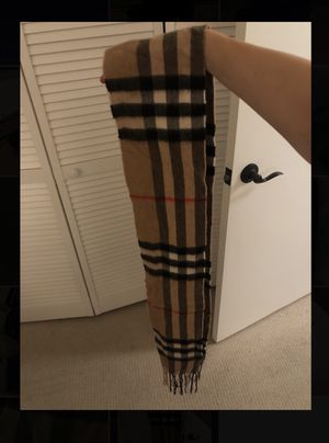 WORN ONCE Burberry Classic Cashmere Scarf- OS for Sale in Chicago, IL