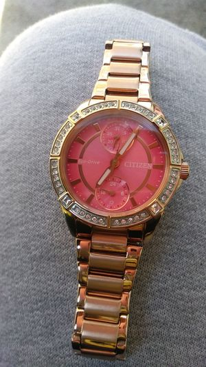 Women citizen rose gold ego drive watch for Sale in Woodlake, CA