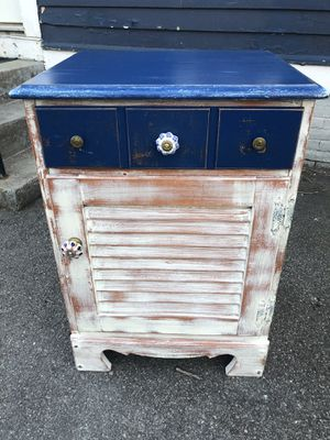 Refinished farmhouse cabinet/ bar / bathroom storage for Sale in Somerville, MA