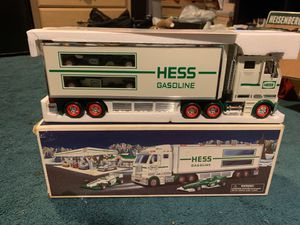 HESS Gasoline Toy Truck and Racecars for Sale in Paramus, NJ
