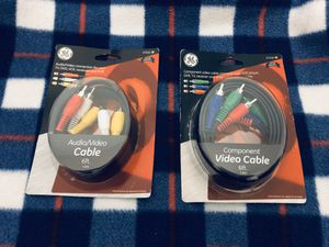 GE AUDIO VIDEO CABLES for Sale in Wilmington, NC