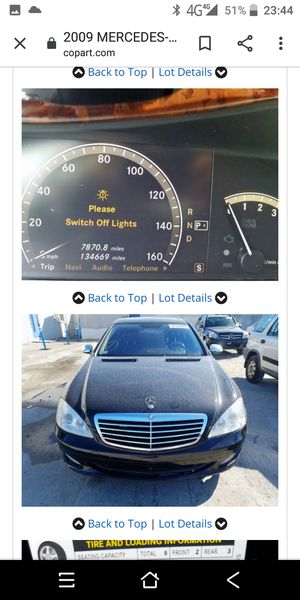 2007 2008 2009 MERCEDES S550 PARTS PARTING OUT for Sale in Philadelphia, PA