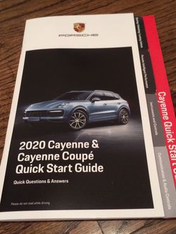 **Genuine OEM Porsche Cayenne Quick Start Guide for Sale in Chicago,  IL