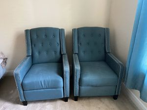 Recliners teal studded for Sale in Winter Garden, FL