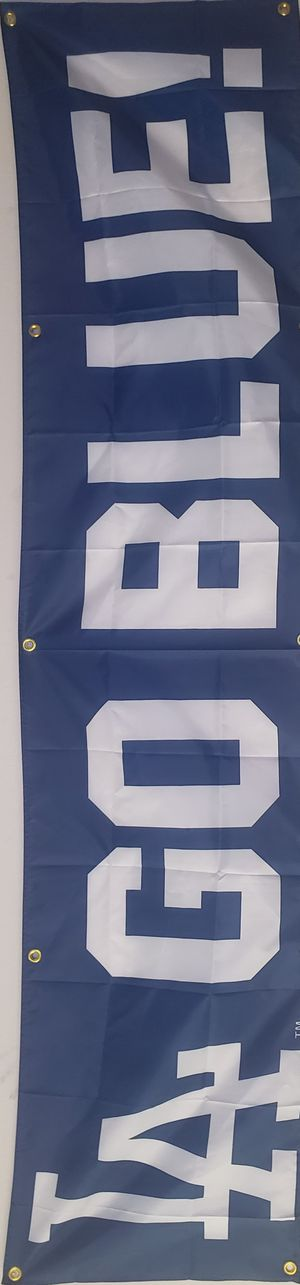 Dodgers 2x8 Banner Flag Go Blue!!!!!Huge Gameroom Garage Ready LA Kobe Lakers for Sale in Downey, CA