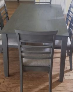 Special Brand New Dining Set ( Table and 6 Chairs Grey Wood Finish ) ⭐️😊☀️ for Sale in San Diego,  CA