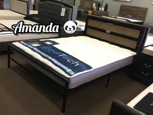 Queen bed frame with pillow top mattress included for Sale in Glendale, AZ