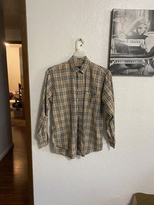 Burberry plaid flannel for Sale in Hillsboro, OR