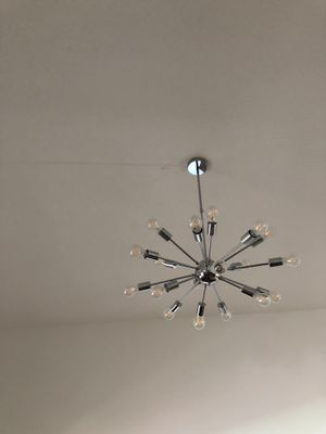 Allen + Roth Grayford 18-Light Brushed Nickel Mid-Century Tiered Chandelier for Sale in Fort Lauderdale, FL