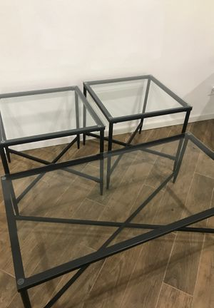 Glass tables Living Room Set for Sale in Allyn, WA