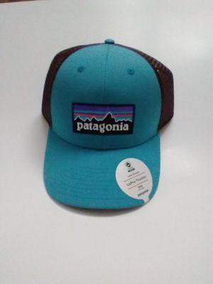 Patagonia p-6 logo Lopro Adjustable Snap Trucker Hat Mesh Back Mako Blue for Sale in Sunrise, FL