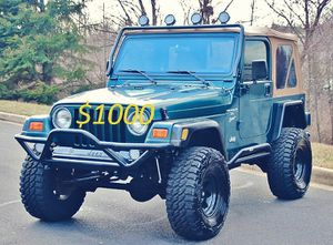 Well maintained🍀2OOO Jeep Wrangler TJ Lifted🍀-One Owner-$1OOO for Sale in Lexington, KY