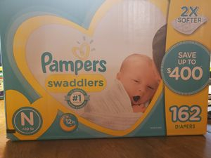 Pampers swaddlers 162 newborn for Sale in Gilbert, AZ