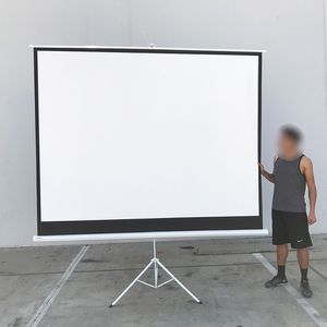 """(NEW) $65 Tripod 120"""" 4:3 Projector Screen Theater Office Pull Down Projection for Sale in Whittier, CA"""
