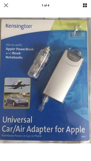 Kensington Travel Car/Air Adapter for Apple iBooks Notebooks PowerBooks New for Sale in Springdale, AR
