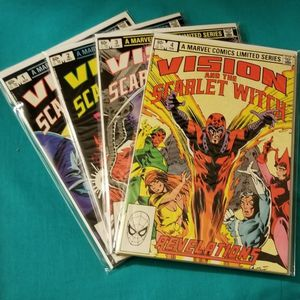 Vision and the Scarlet Witch #1-4 Marvel Comics Limited Series Complete Set 1982 for Sale in Ontario, CA