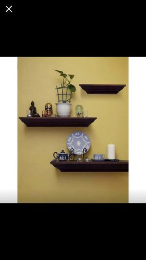 Pinnacle Burnes of Boston 31 in. W x 3.88 in. D Walnut 3 floating wall shelves 15 for Sale in Plano, TX