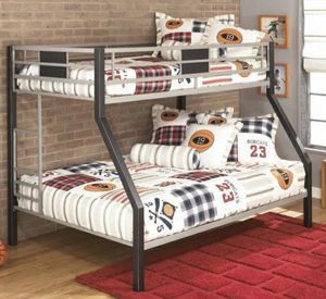 Dinsmore Black/Gray Twin/Full Bunk Bed for Sale in Columbia, MD
