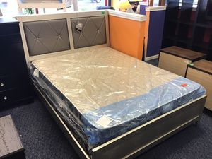 Silver Queen Size Bed Frame for Sale in Virginia Beach, VA