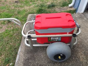 Beach fishing cart, Portable live well, cast net and fishing belt for Sale in Norfolk, VA