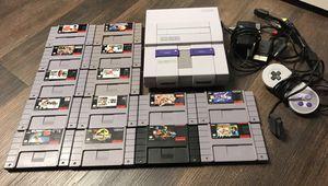 Super Nintendo complete w/games (megaman x2 etc) for Sale in Longs, SC