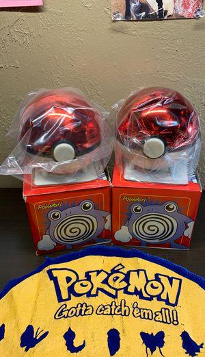 2 Sealed 23k Poliwhirl Burger King Pokemon Balls for Sale in Holbrook, AZ