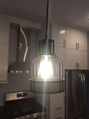 Never used: unitary brand single black metal hanging lamp for Sale in Washington, DC